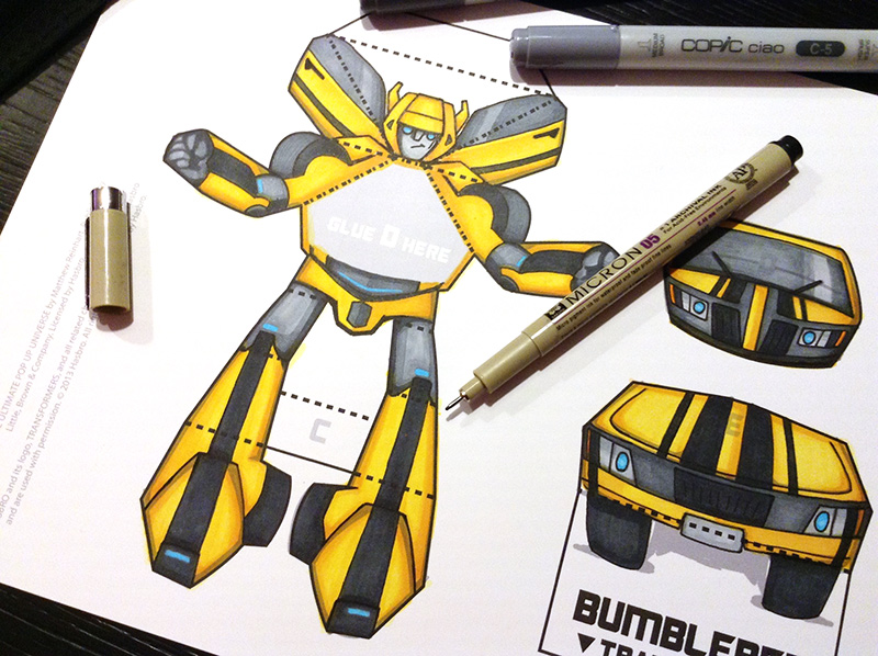 Bumblebee best pop up books transformers pop up template maxwellsz