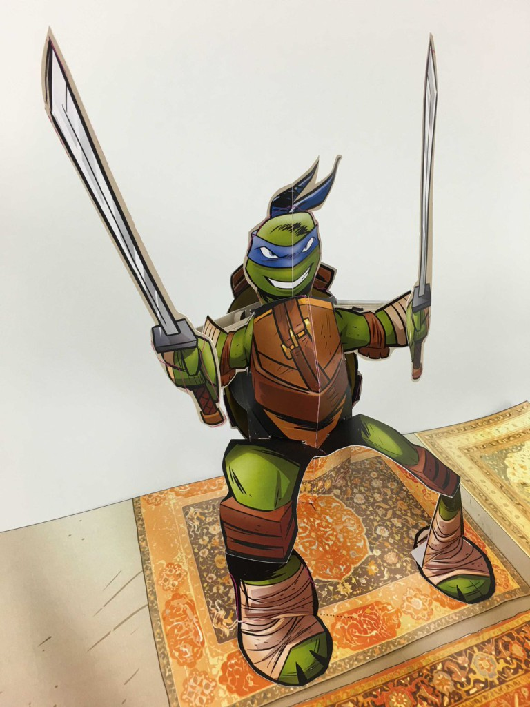 teenage mutant ninja turtles pop-up book