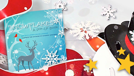 snowflakes pop-up book