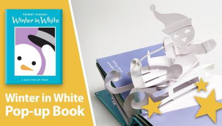 Winter in WHite pop-up book