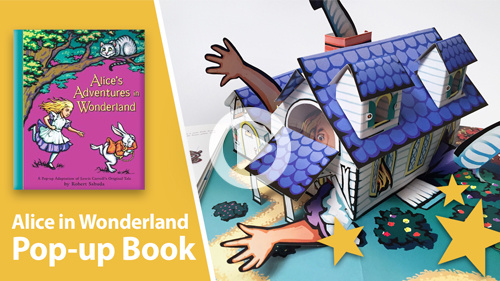 Alice in Wonderland pop-up book
