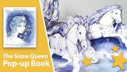 snow queen pop-up book