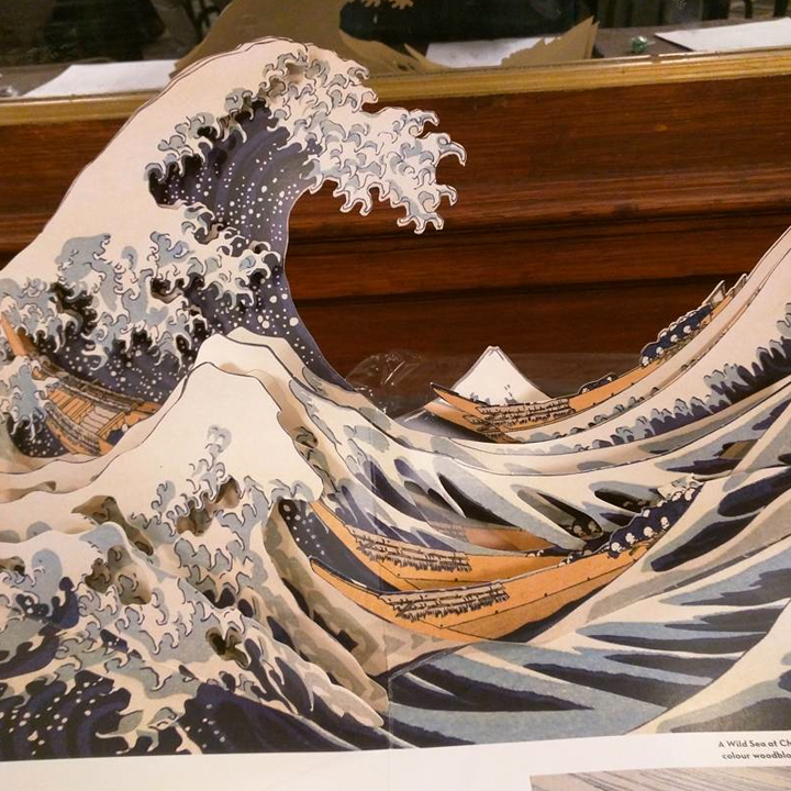 hokusai pop-up book