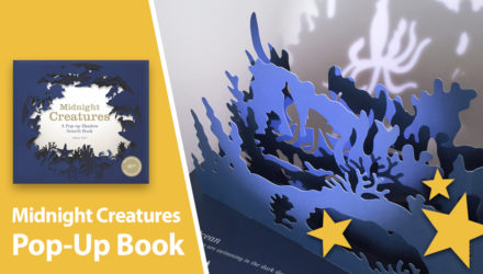 midnight creatures shadow pop-up book