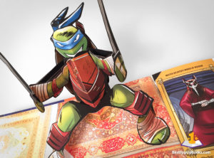 teenage mutant ninja turtles pop-up book Leonardo
