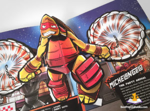 teenage mutant ninja turtles pop-up book Michelangelo