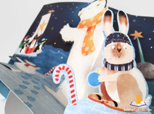 Arctic Christmas pop-up book