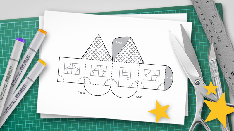 Halloween Pop Up Cards Templates.How To Make A Pop Up Print Ready Pdf Pop Up Templates
