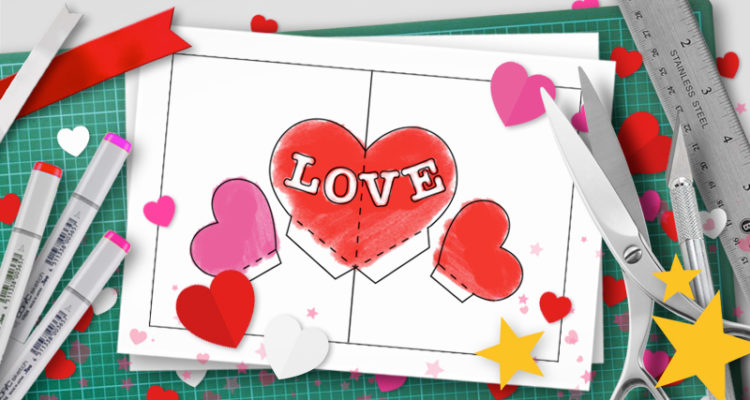 Valentine S Day Pop Up Templates Do It Yourself Pop Up Tutorials