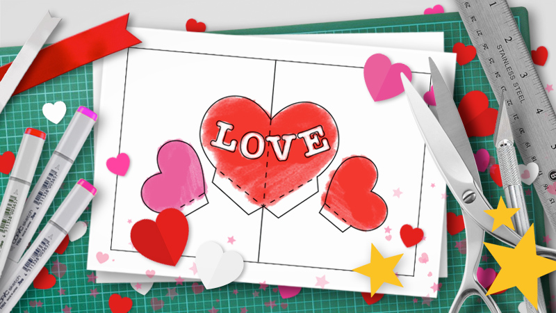 Valentines day pop up templates do it yourself pop up tutorials diy valentine pop up solutioingenieria Image collections