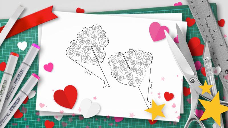 diy valentine pop-up