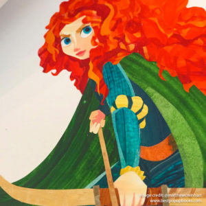 Pixar Pop-up Book Artwork - Brave