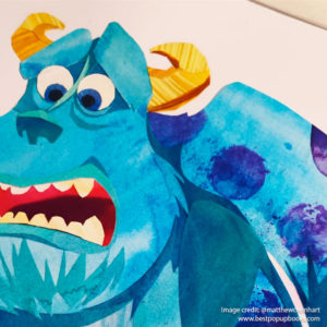 Pixar Pop-up Book Artwork - Monsters Inc