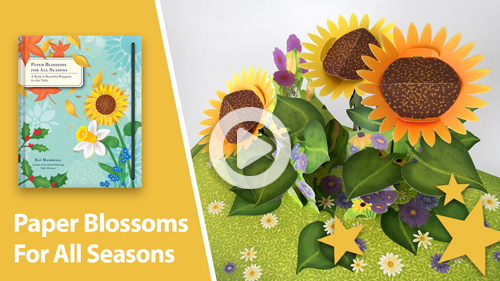 paper blossoms pop-up book