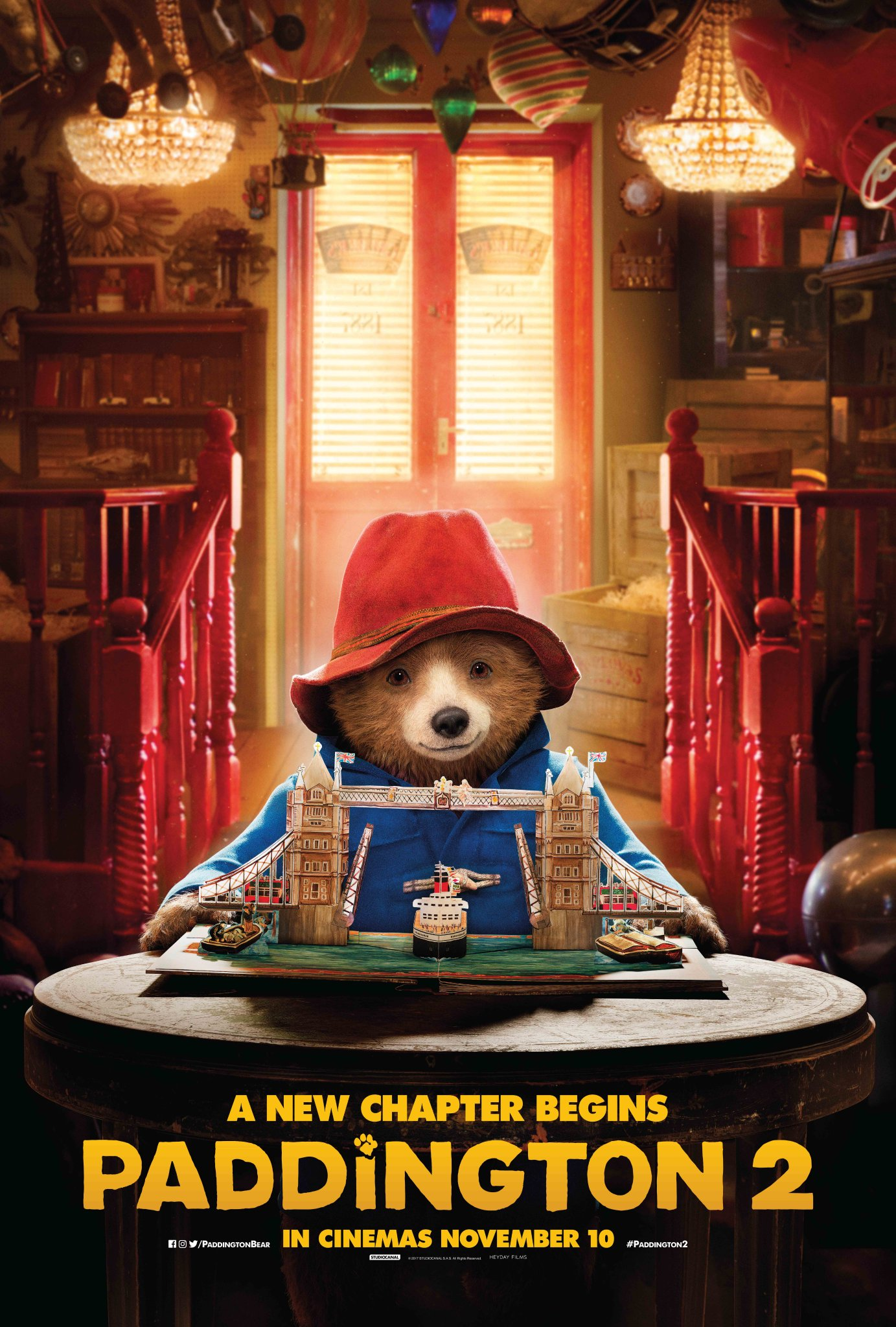 Paddington 2 pop-up book movie