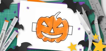 halloween pop-up template
