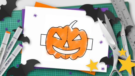 halloween pop-up template