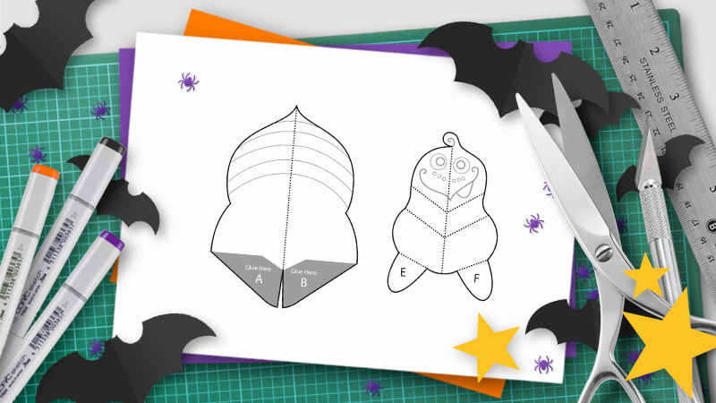 Diy halloween pop up templates and tutorials do it yourself pop ups halloween pop up template maxwellsz