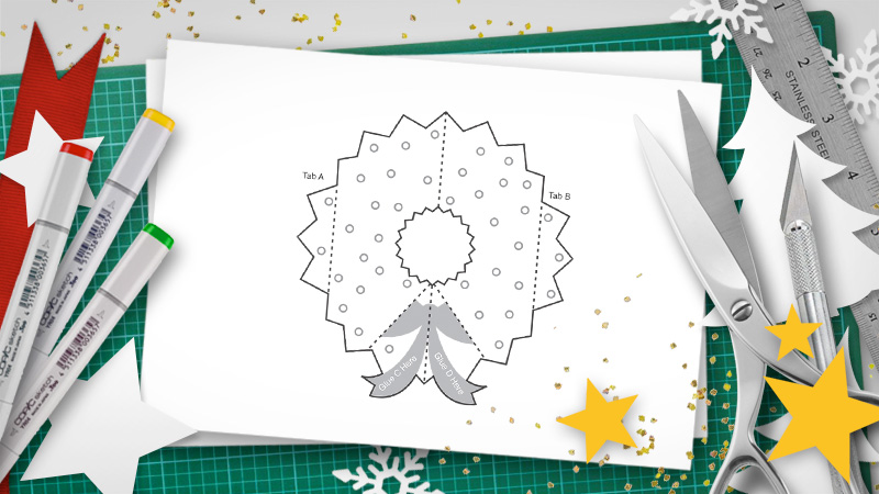 Matthew Reinhart Christmas Pop-up template