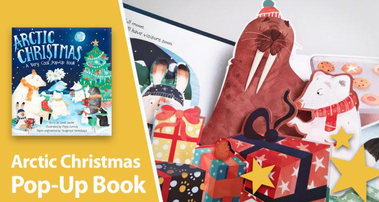 arctic christmas pop-up book