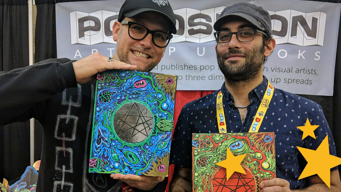 Interview-Skinner necronomicon pop-up book