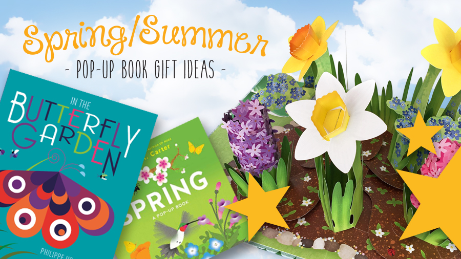 spring and summer pop-up books
