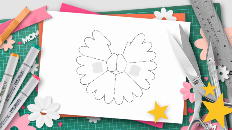 flower pop-up template