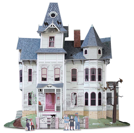 Cut & Assemble Haunted House