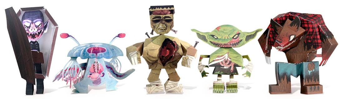 PaperMade Monsters Halloween DIY