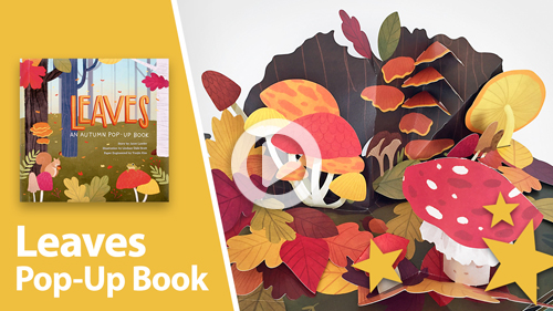 Leaves pop-up book